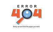 Error 404 page vector internet problem or web warning message webpage not found erroneously illustration funny set of erroneous website failure or alert site is broken service information background