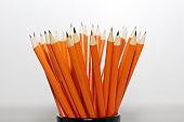 Simple pencils for office workers. Black lead pencil