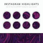 Instagram Highlight covers vector