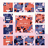 Sale template vector