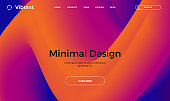 Abstract design template with 3d flow shapes