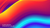Background with an abstract liquid color flow and motion of a wavy fluid lines. Eps10.