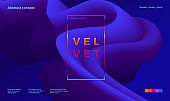 Trendy abstract design template with 3d flow shapes. Dynamic gradient composition. Applicable for landing pages, covers, brochures, flyers, presentations, banners. Vector illustration.