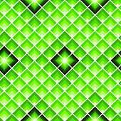 Rectangles or lozenges seamless pattern in trendy neon lime color.