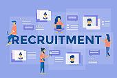 Illustration for recruiting, recruit resources