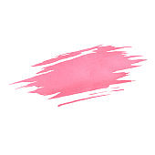 Hand painted pink vector watercolor brush texture isolated on the white background. Template usable for cards, wedding invitations and more.