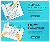 Development of technical documentation. Workplace of the designer.
