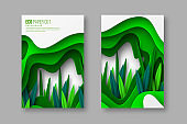 Nature and environment conceptual posters.
