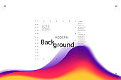 Colorful background. Abstract fluid dynamic shapes. Liquid colors on white background. Modern template for poster or banner.