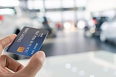 man holding credit card for blurred bokeh background e-shopping marketing digital, consumer purchase shopping internet online image