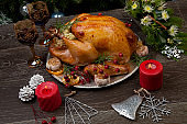 Rustic Style Christmas Turkey