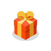 Three sizes of gift, red box, yellow ribbon, present giveaway, special prize, happy birthday