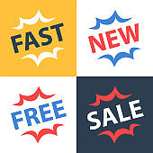 Fast services, new collection, free offer, sale announcement