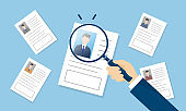 resume,image of finding employment,vector illustration