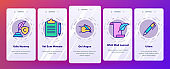 Color Copywriting and Blogging Vector Onboarding