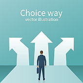 Choice way concept.
