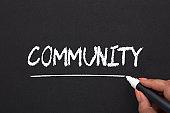 Word community on blackboard