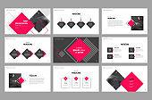 presentation layout design template and use for brochure ,portfolio, book , magazine, annual report , and company profile