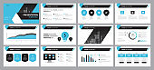 set blue business presentation backgrounds design template and page layout design for brochure ,book , magazine,annual report and company profile , with infographic elements graph design concept