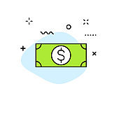 Business and Finance and Money web icons in line style. Money, dollar, infographic, banking. Vector illustration.