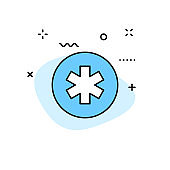 Medical and Health web icons in line style. Medicine and Health Care, RX, infographic. Vector illustration.
