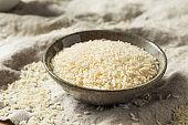 Dry Raw Organic White Rice