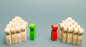 The conflict between the leaders of the two teams. Business competition. Search for compromises. People in the discussion. Conflict among employees. Two opponents. Conflict of interest. Dispute.