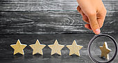 The loss of the fifth star of the restaurant or hotel. The fall in rating and recognition. Deterioration in service quality. Restaurant hotel overview. Bad feedback. 4 stars. Critic's rating. New star