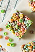Homemade Fruit Cereal Marshmallow Treat