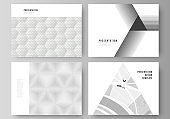 The minimalistic abstract vector illustration layout of the presentation slides design business templates. Abstract geometric triangle design background using different triangular style patterns.