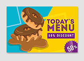 poster of today menu with delicious donut