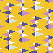 Mid century retro geometric seamless pattern