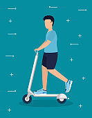 Man and healthy lifestyle concept vector design