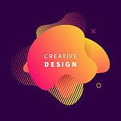 Vector modern futuristic ultra violet cover element