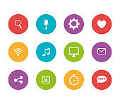 bundle of social media and set icons