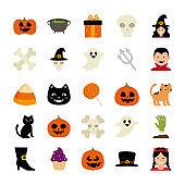 bundle halloween with set icons