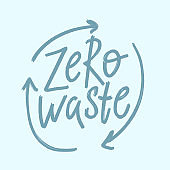 Zero waste. Hand-drawn doodle illustration.