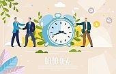 Business Leaders Good Deal Flat Vector Web Banner