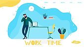 Work Time Management Landing Page for Company