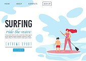 Extreme Sport Landing Page Offers Surfing Time