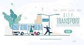 City Transport Company, Service Vector Website