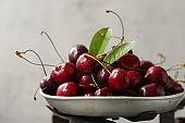 ripe organic sweet cherry