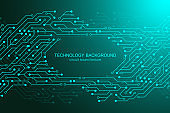 Computer motherboard vector background with circuit board electronic elements. Electronic texture for computer technology, engineering concept. Motherboard computer generated abstract illustration