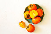 Delicious fresh persimmon fruits