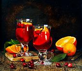 Cranberry and orange drink