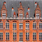 Bruges City Hall (Brugge) old town in Belgium, Europe