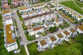 Modern Housing Development Viewed from Above