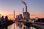 Coal Fired Power Station at Twilight