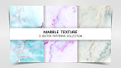 Backgrounds and Textures of Marble Premium Set Patterns Collection, Abstract Background Template, Suitable for Luxury Products Brands with Golden Foil and Linear Style.
