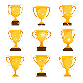 Gold award cups